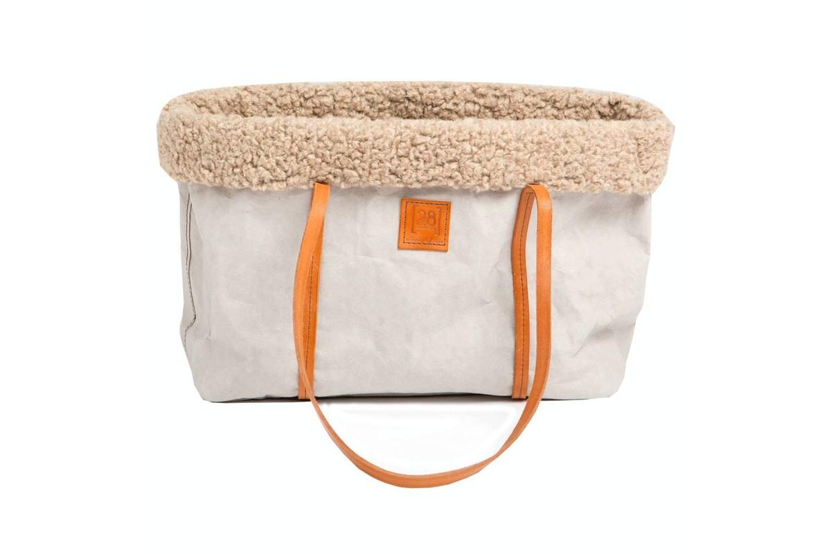 2.8 Design für Hunde Annie Hundetasche Wolle Grau