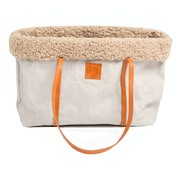 2.8 Design for dogs Duepuntootto Annie Dog bag gray wool