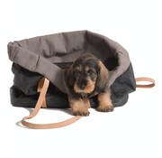 Duepontootto Duepuntootto Annie Pet Carrier Black Cotton