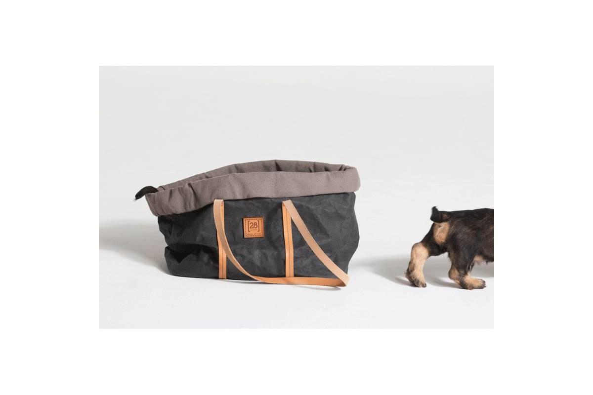 2.8 Design für Hunde Annie Hundetasche Baumwolle Schwarz