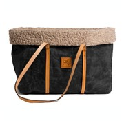 Duepontootto Duepuntootto Annie Dog Bag Waxed black wool