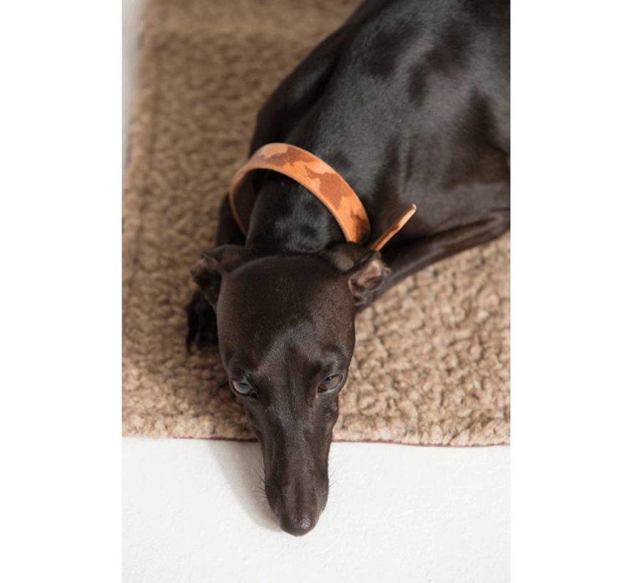 Duepuntootto Steve Canvas Hondenreismat lichtgrijs