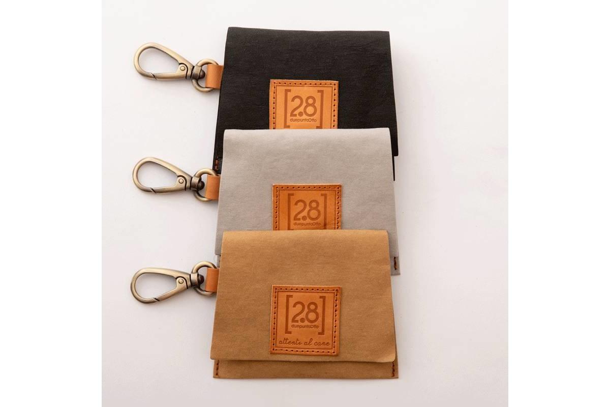 2.8 Design für Hunde Oliviero Tasche für Hundekotbeutel Schwarz