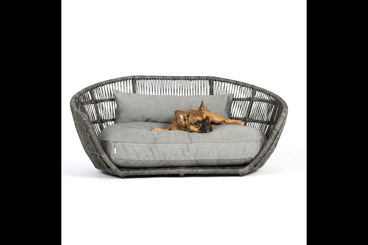 Laboni Design Outdoor Hundekissen Luna Schwarze Seide