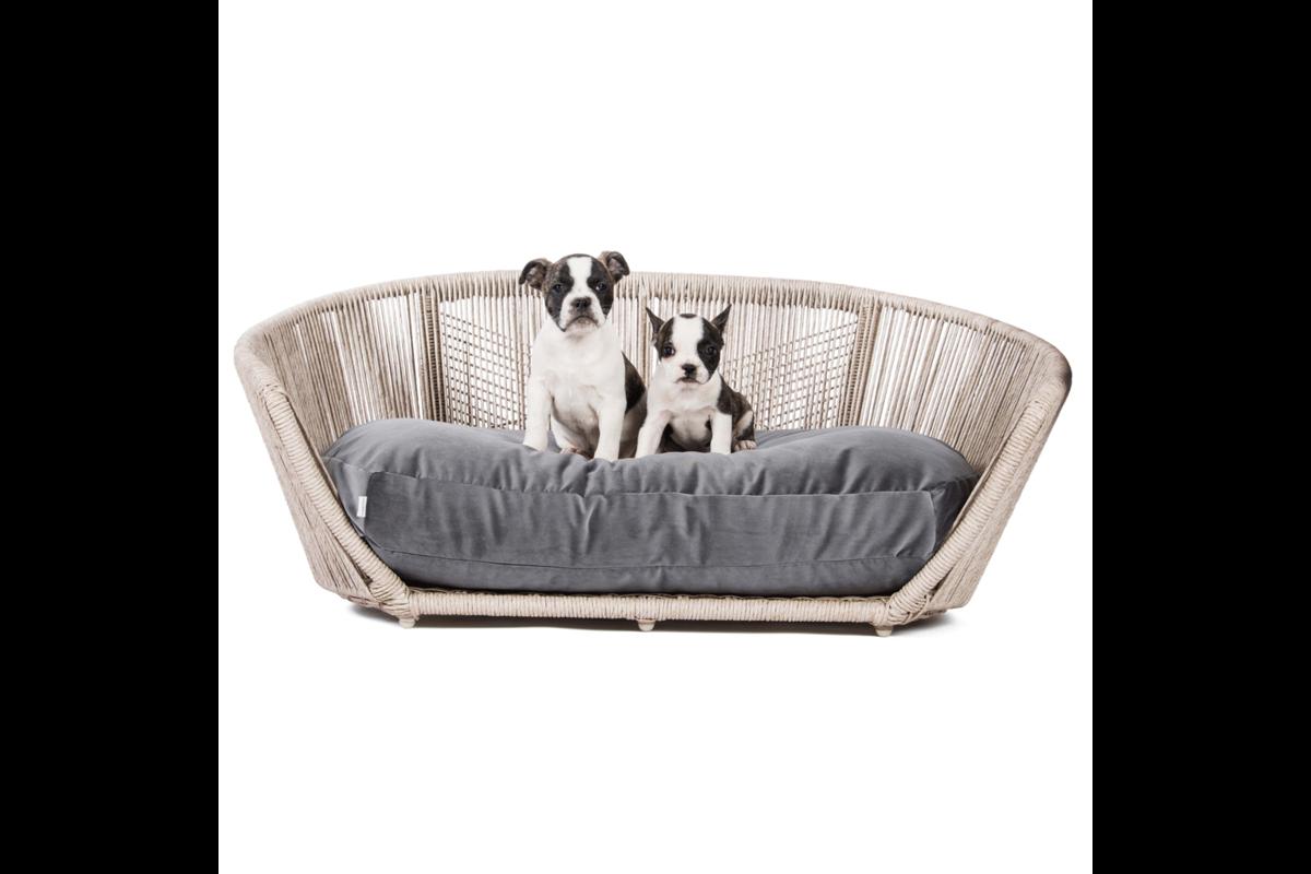 Laboni Design hondenbed Vogue fluweel black silk