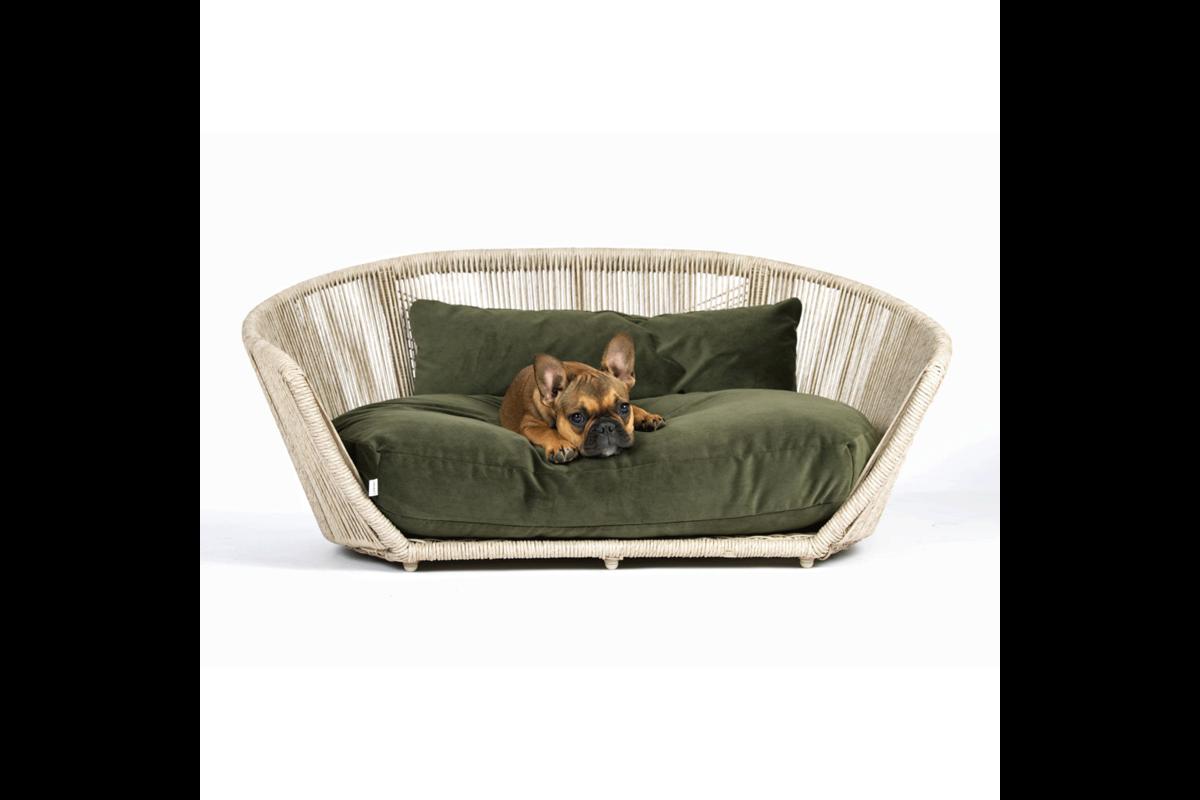 Laboni Design hondenbed Vogue fluweel olive green