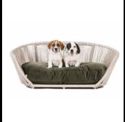 Laboni Laboni Design hondenbed Vogue fluweel olive