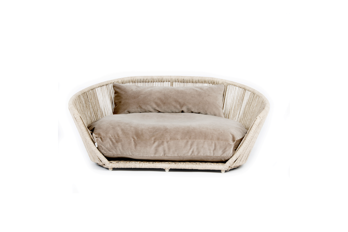 Laboni Design hondenbed Vogue fluweel taupe