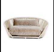 Laboni Design Laboni Design hondenbed Vogue fluweel taupe