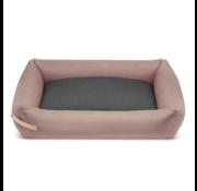 Labbvenn Labbvenn Stokke hondenbed roze/grijs