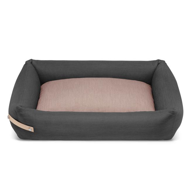 Labbvenn Stokke hondenbed grijs/roze