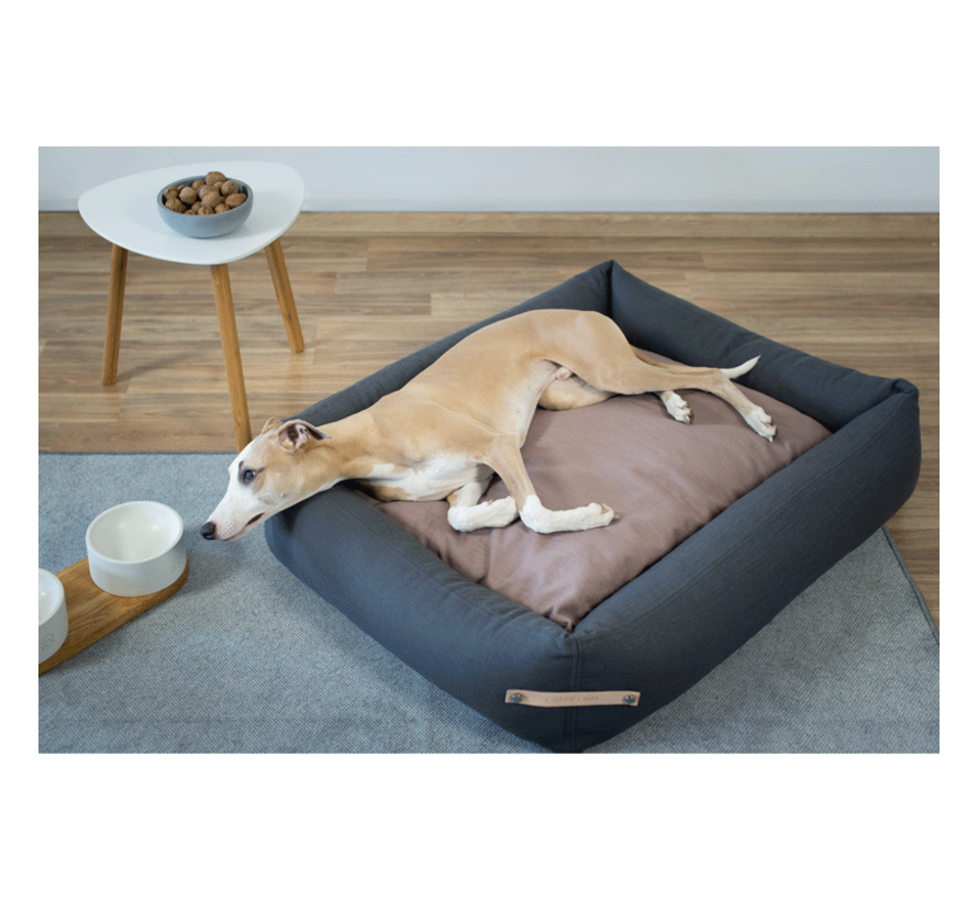 Labbvenn Stokke Dog Bed Grey/Pink