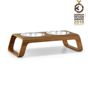 MiaCara MiaCara Desco Cat Food Tray Walnut