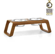 MiaCara MiaCara Desco Dog Food Tray Walnut
