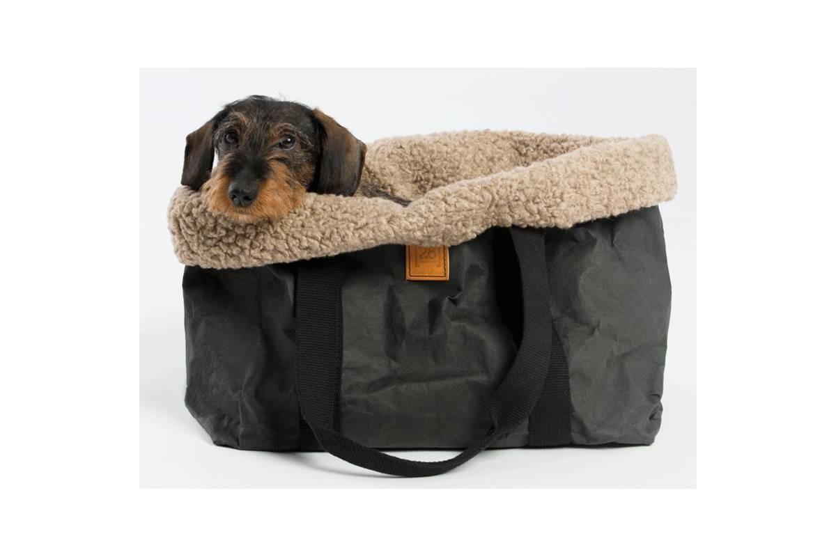 2.8 Design für Hunde Dorothea Hundetragetasche Wolle Silber