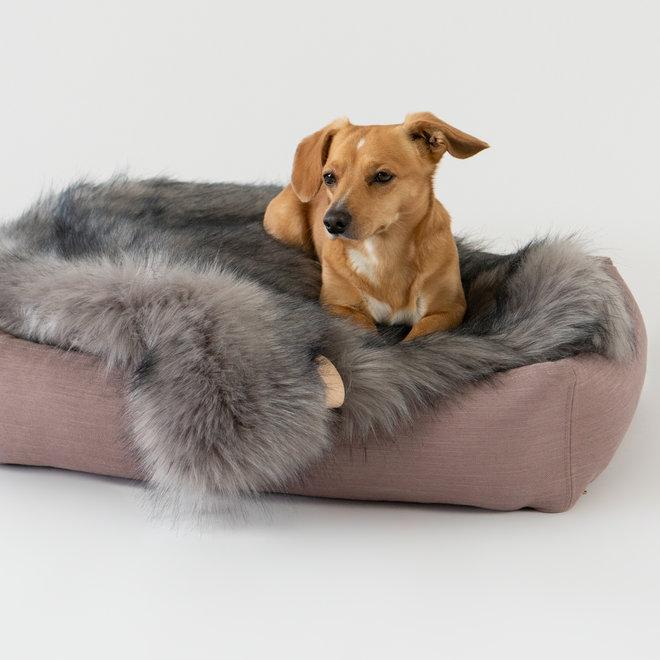 Labbvenn Stokke Dog Bed Pink/Grey