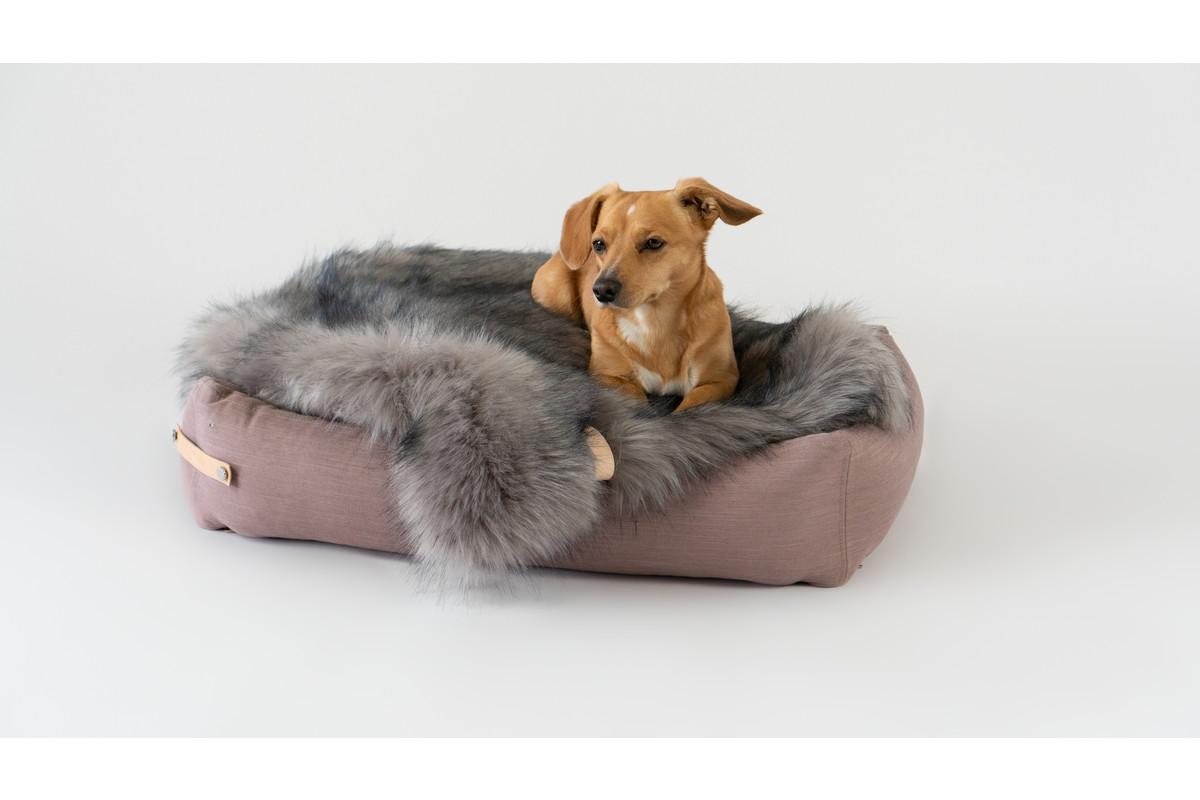 Labbvenn Stokke Hundebett Rosa / Grau