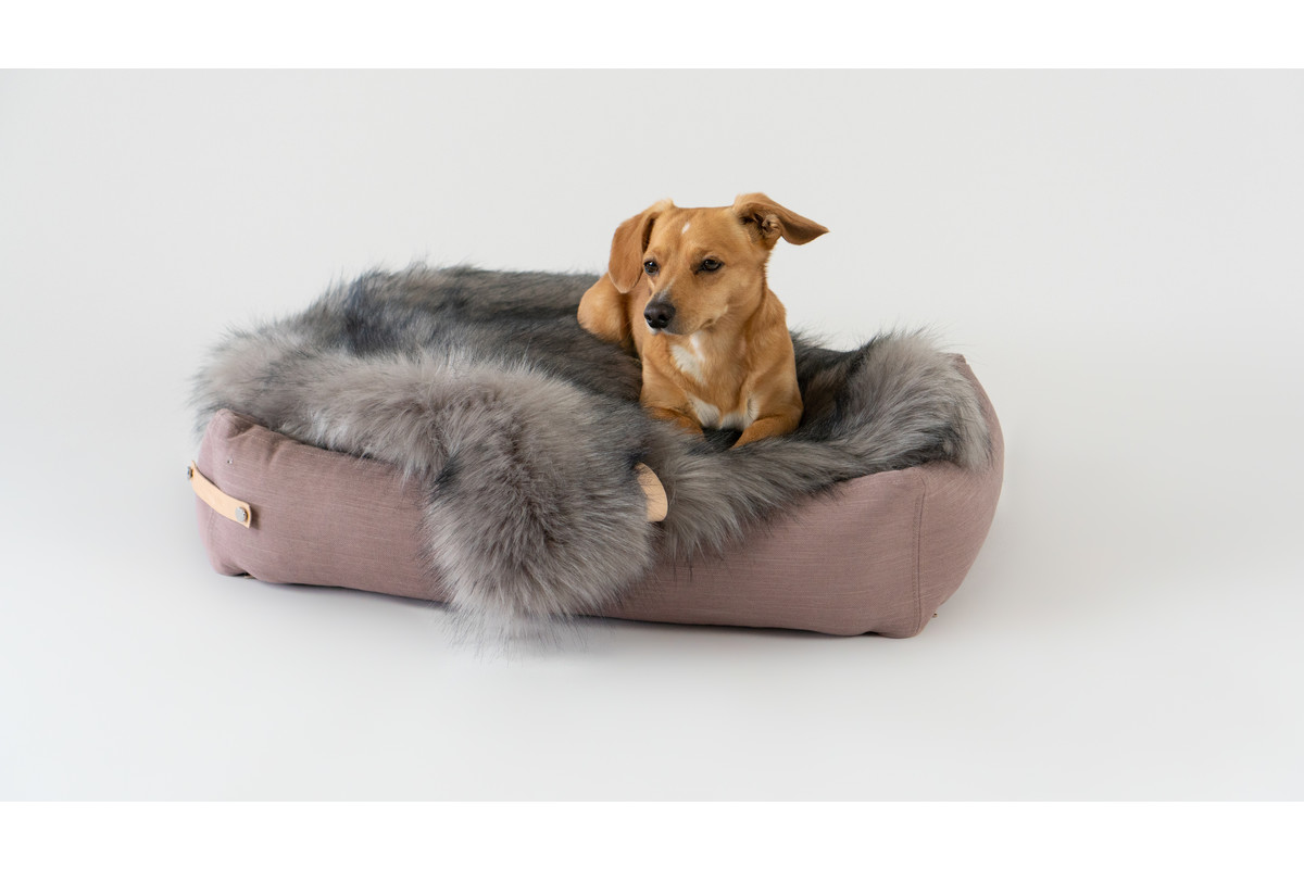 Labbvenn Stokke Dog Bed Pink/Grey