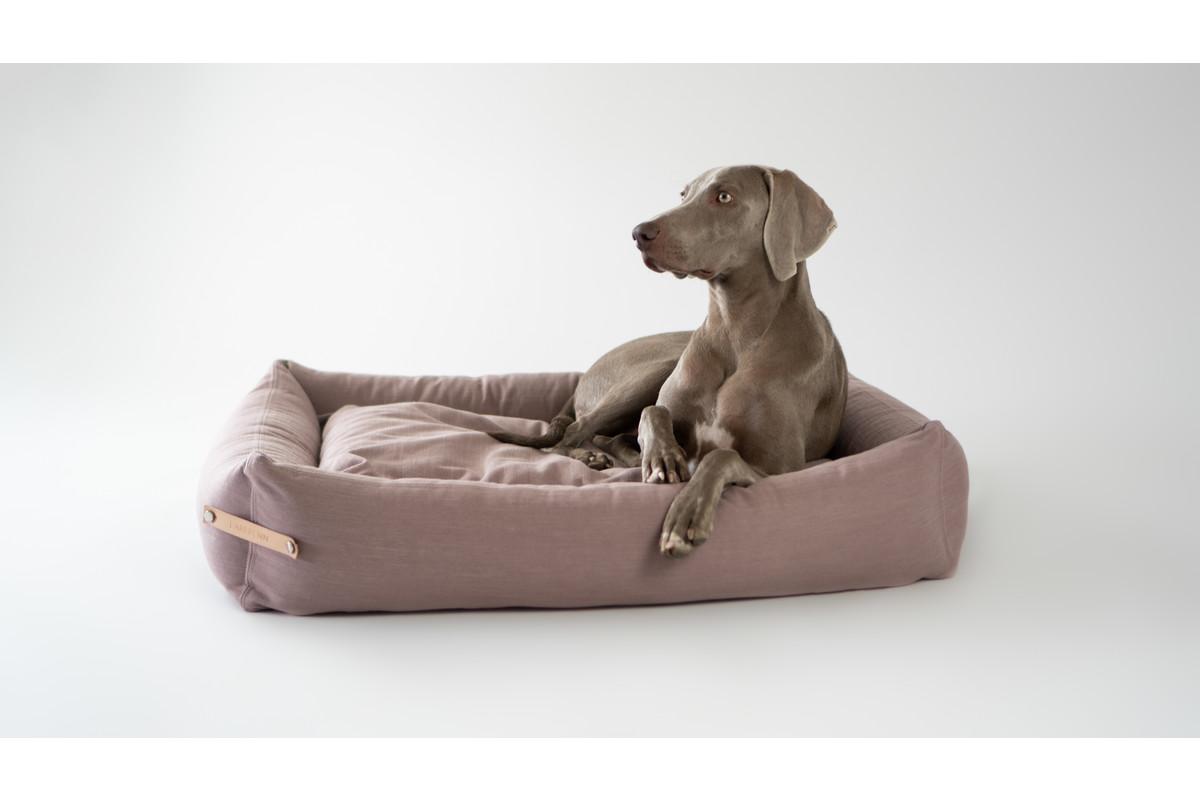 Labbvenn Stokke hondenbed roze