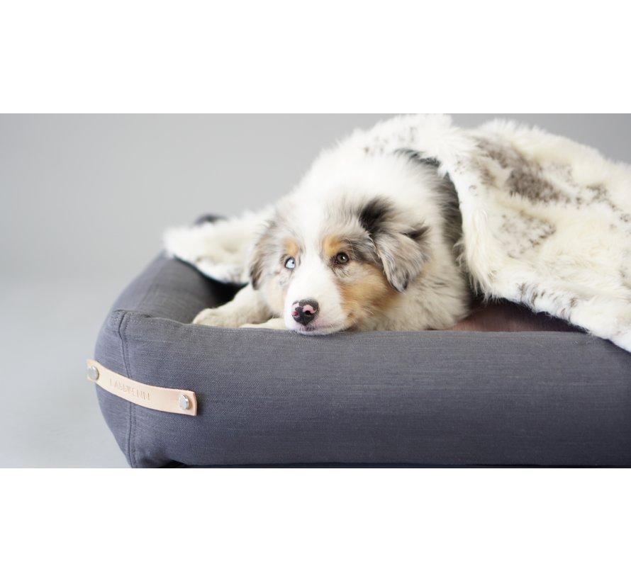 Labbvenn Stokke hondenbed grijs