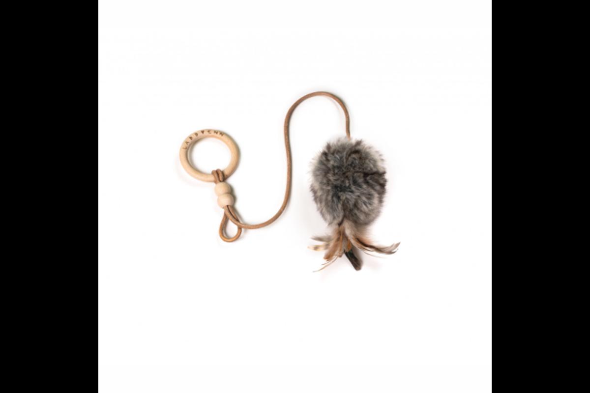 Labbvenn Musse kattenspeeltje grijs