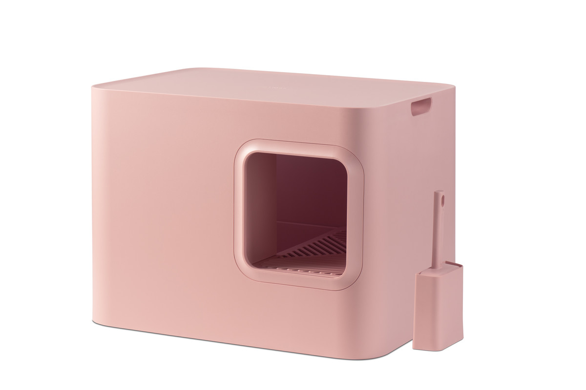 Hoopo® Dome Katzenklo Rosa