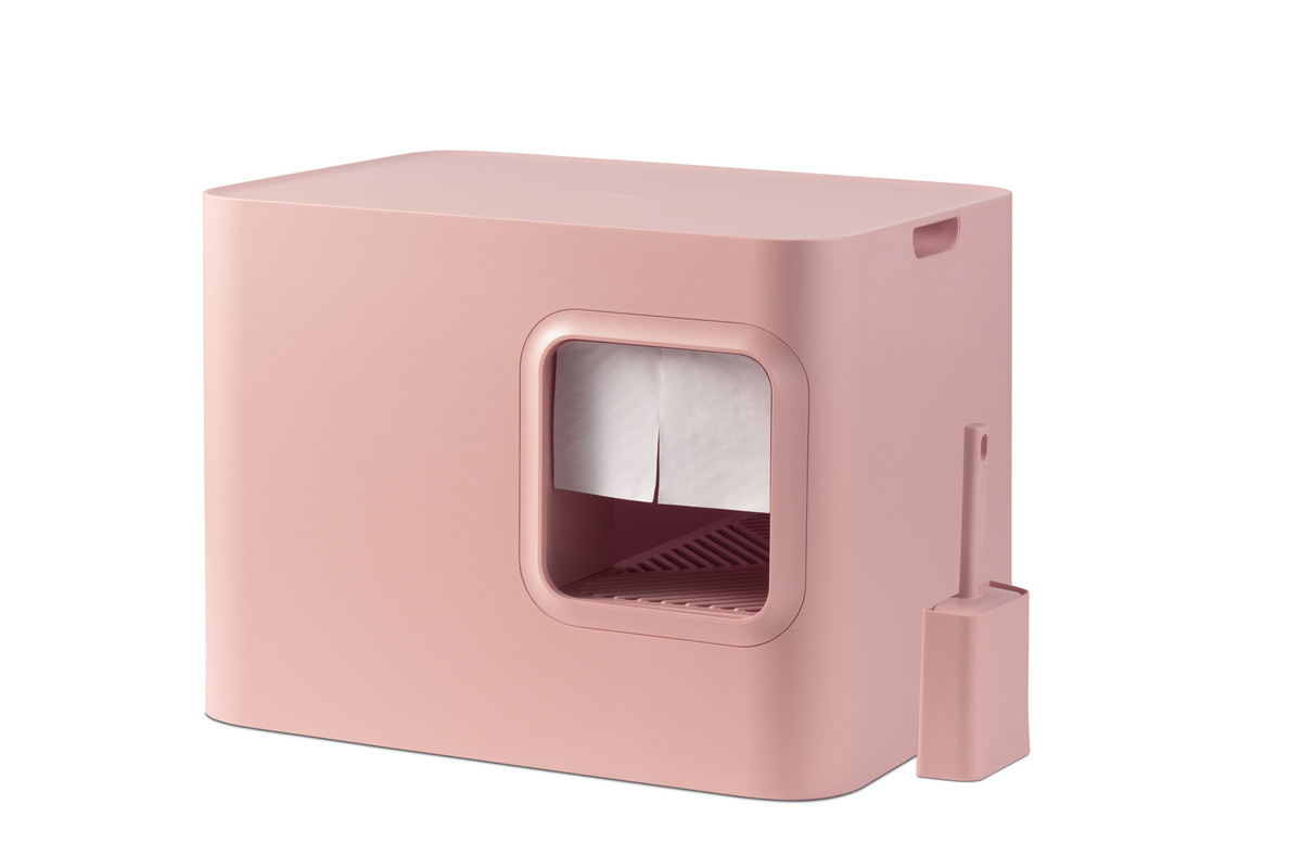 Hoopo® Dome Cat Litter Box Pink