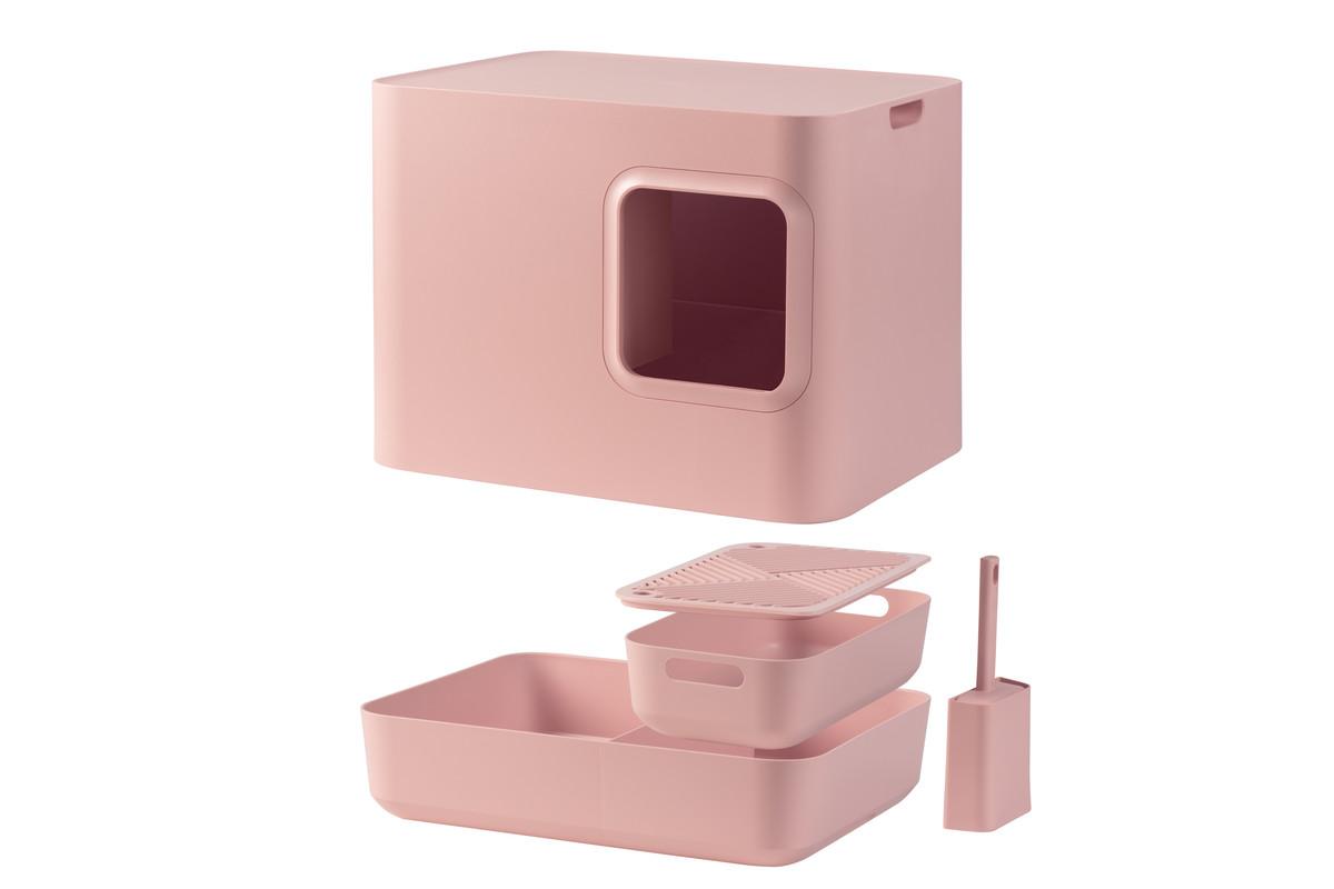 Hoopo® Dome Kattenbak Roze