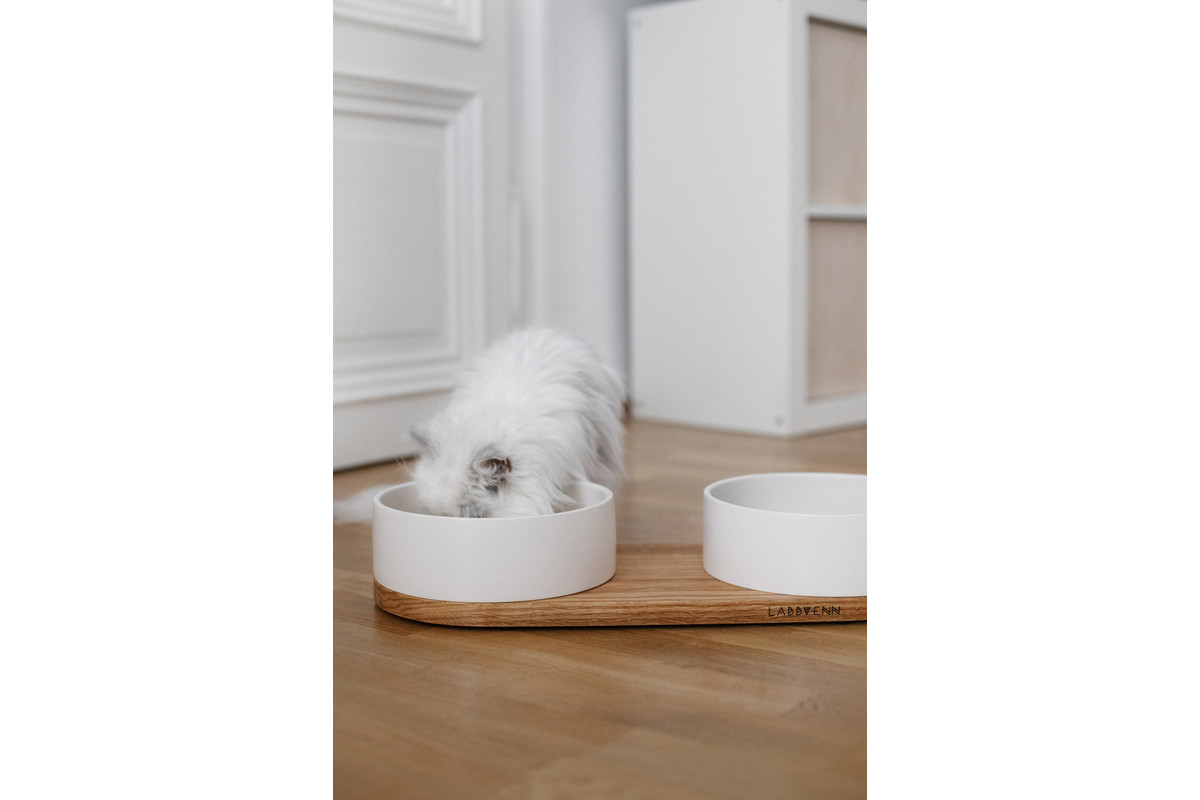Labbvenn Vuku Ceramic Double Food Tray White