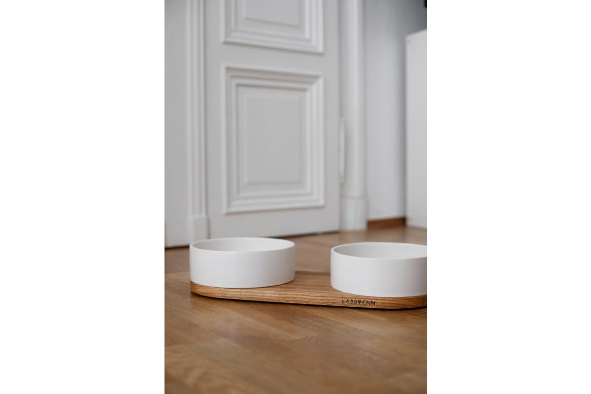 Labbvenn Vuku Ceramic Dubbele Voerbakset Wit