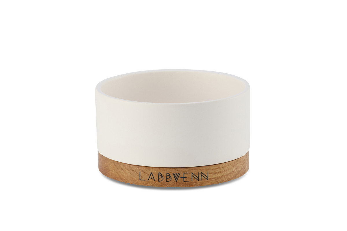 Labbvenn Vuku Ceramic Voerbakset Wit Single