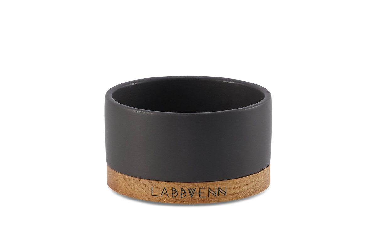 Labbvenn Vuku Ceramic Voerbakset Zwart Single
