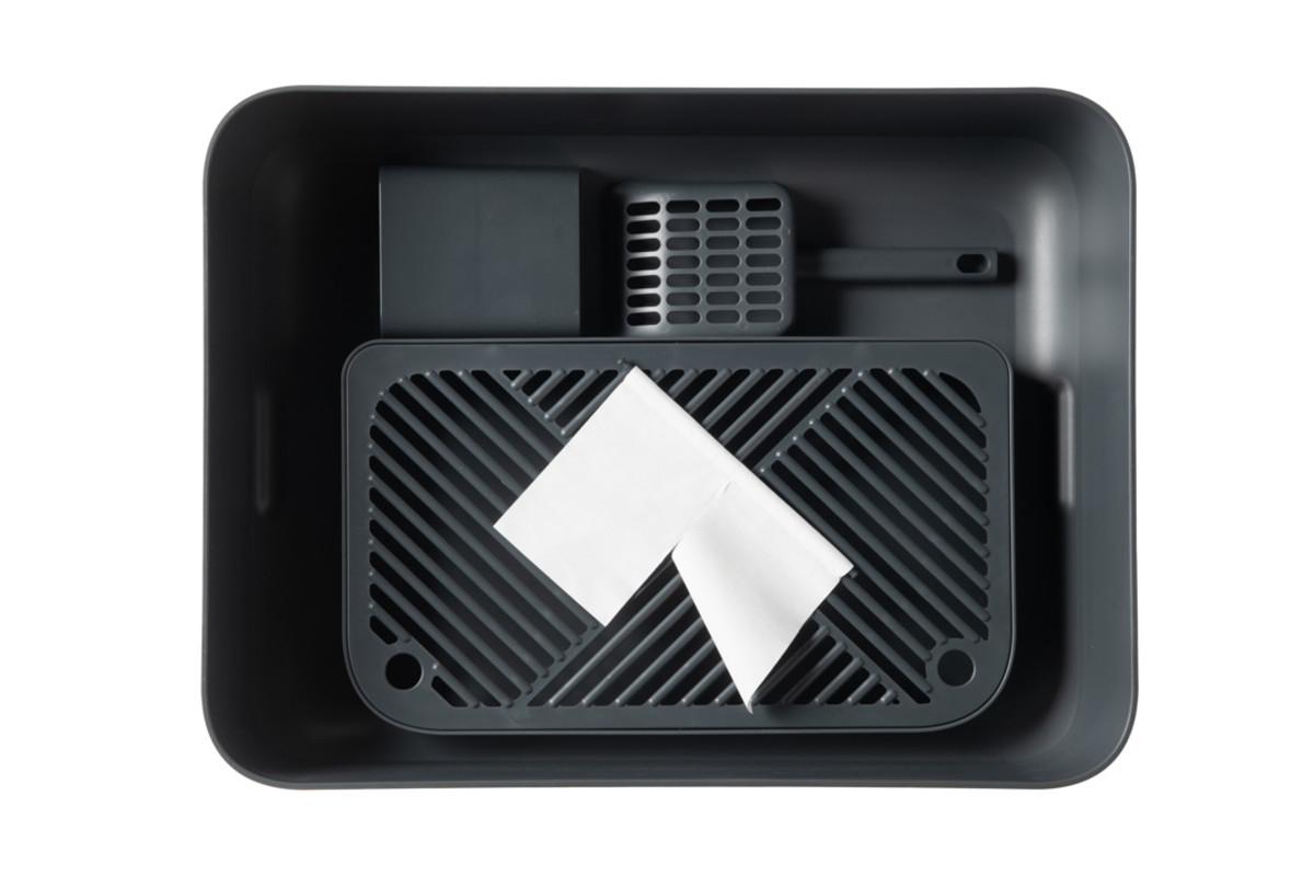 Hoopo® Dome Plus Cat Litter Box Grey