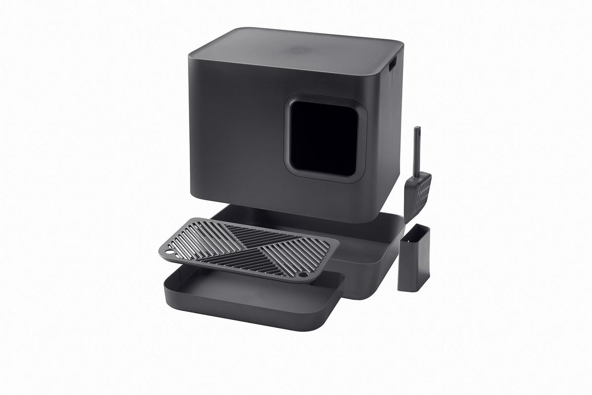 Hoopo® Dome Plus Katzenklo Grau
