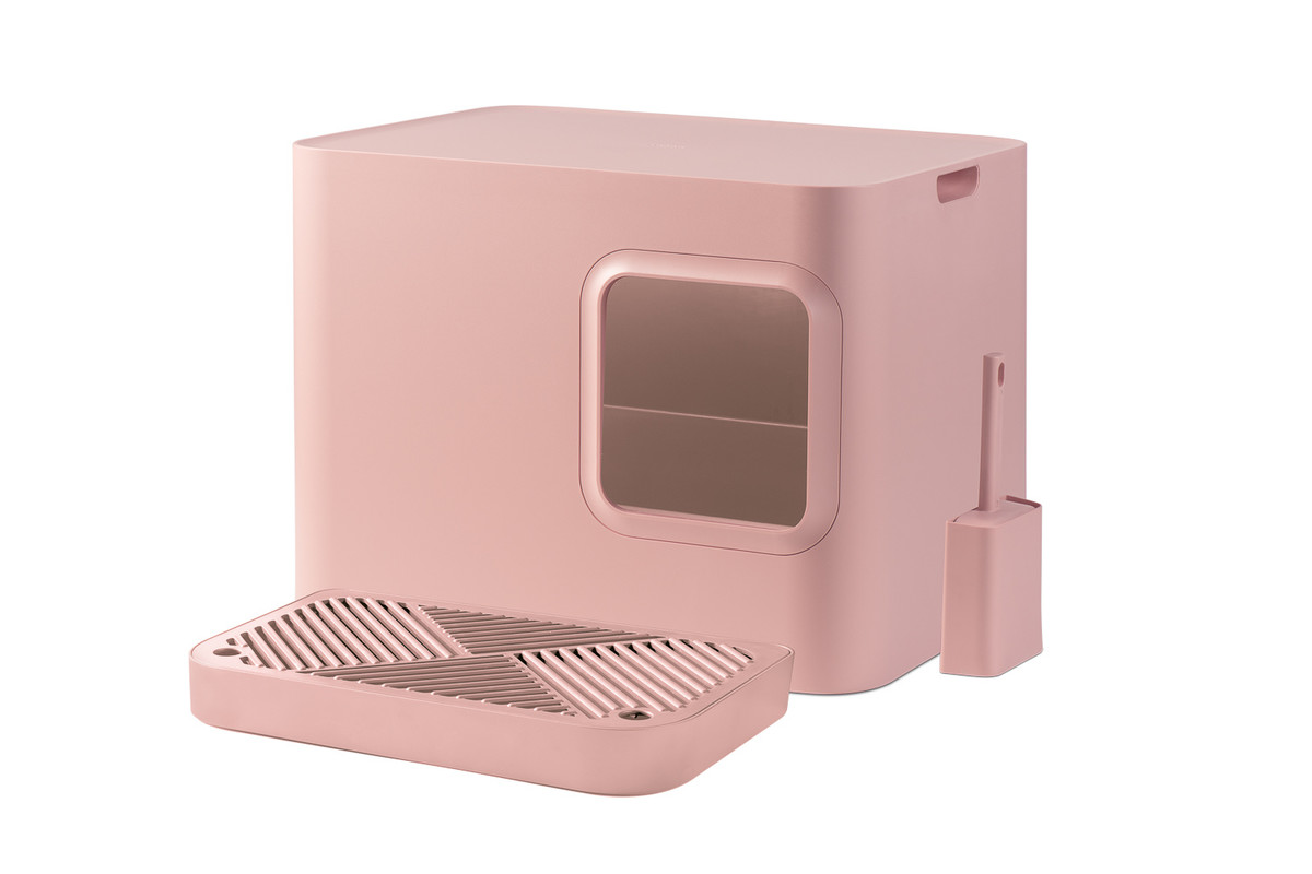 Hoopo® Dome Plus Cat Litter Box Pink