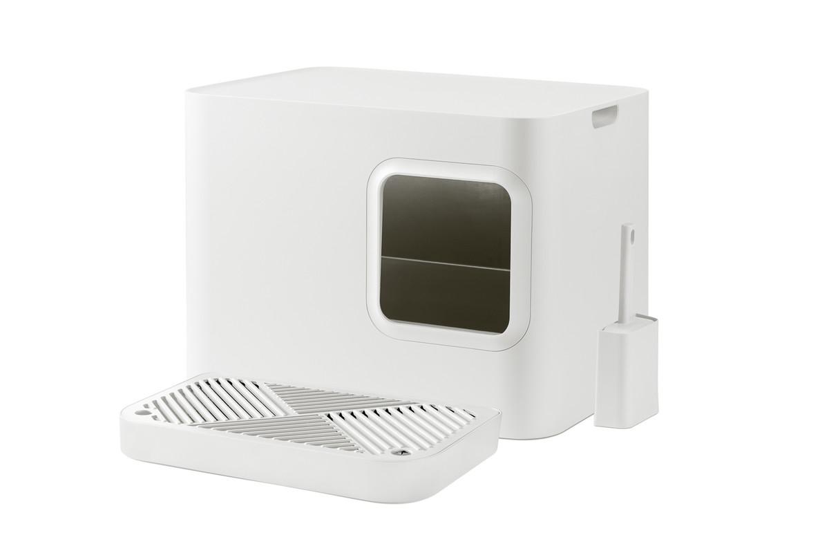 Hoopo® Dome Plus Katzenklo Weiß