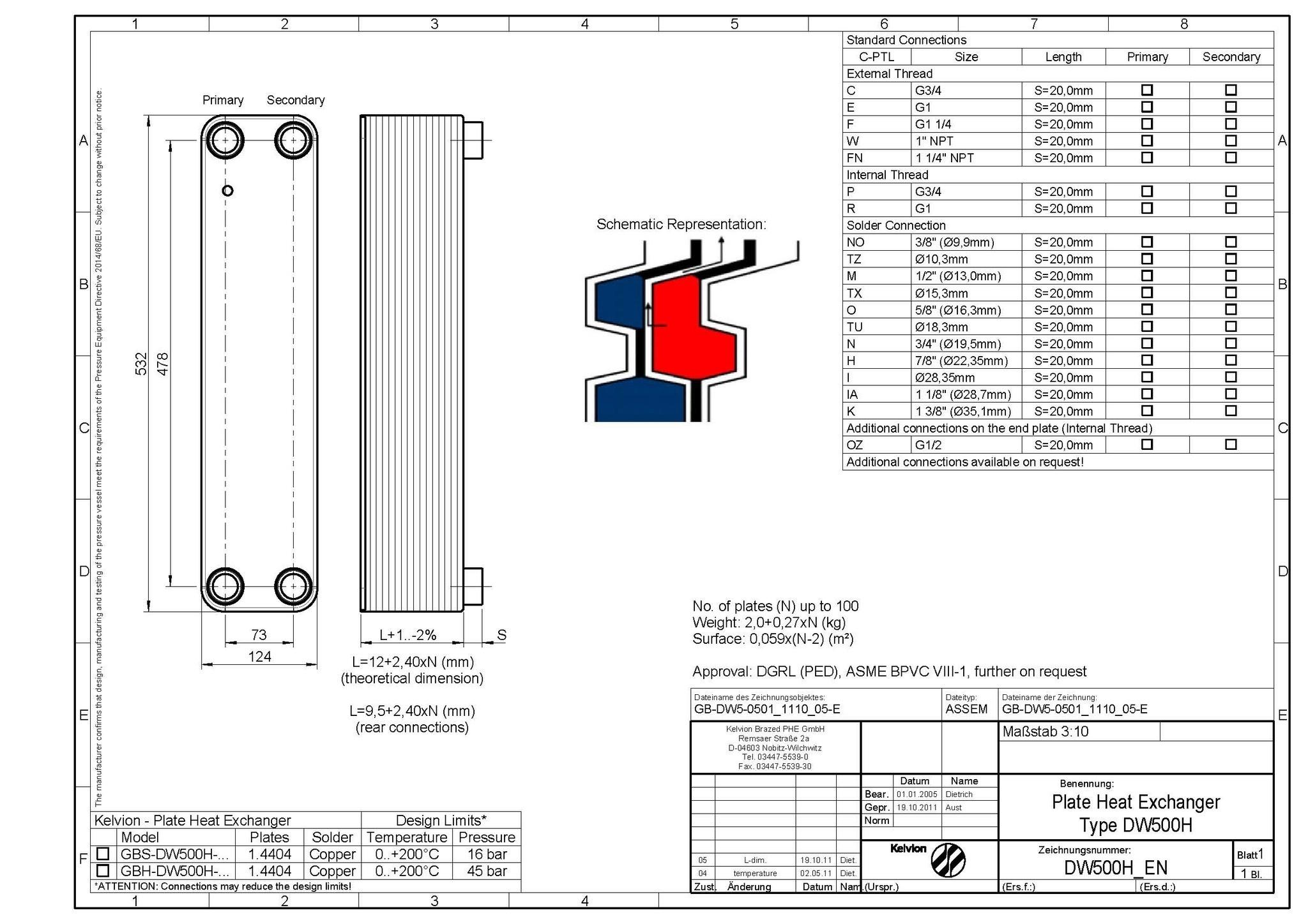 Kelvion GBS-DW 500H-90 (F1, F2)