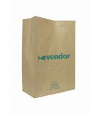 Afvalzakken papier blokzak (vendor) 30 x 20,5 250 stuks