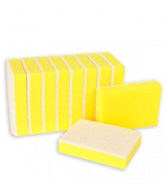 Schuurspons geel/wit ca. 140x90x28 mm