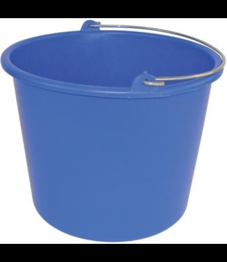Glazenwassers emmer blauw 12 liter