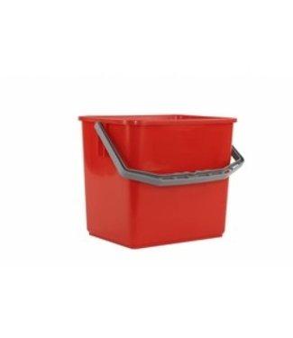 Emmer voor werkwagens 6L rood