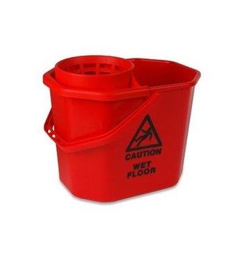 Minimopemmer kunststof 14 L rood