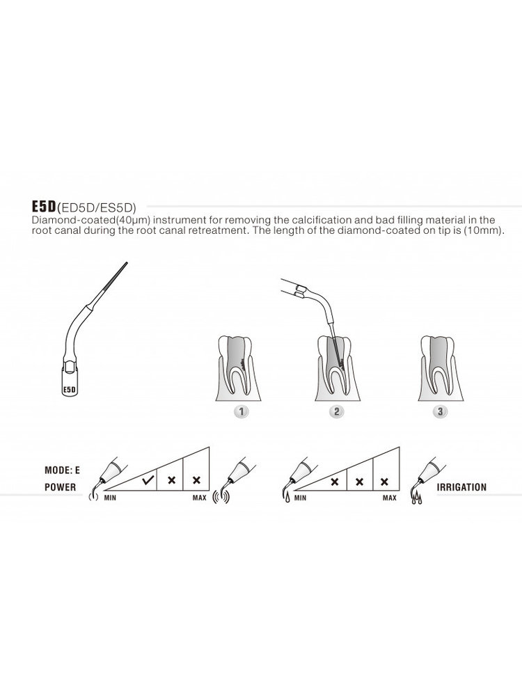 EMS compatibel Woodpecker  Woodpecker Endo tip E5D