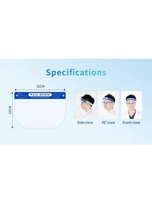 Écran facial avec bande élastique et ajustement souple, entièrement approvisionné en 2 moins (01.07.2020 )