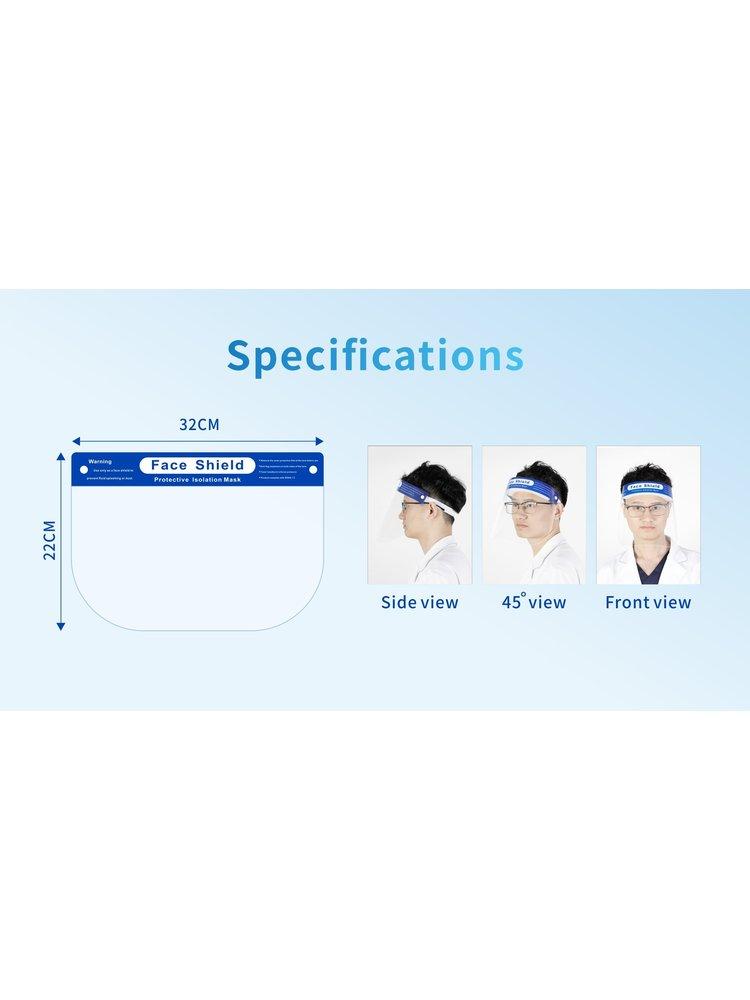 Gesichtsschutz mit Gummiband und weicher Passform, in 2 monaten (01.07.2020) voll auf Lager
