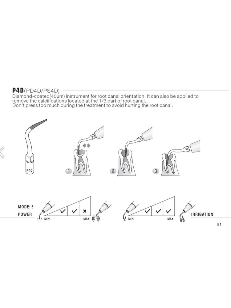 Siemens/Sirona compatibel Woodpecker Woodpecker  PS4D Endo tip