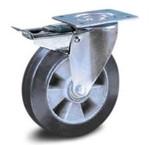 Zwart elastisch rubber wielen