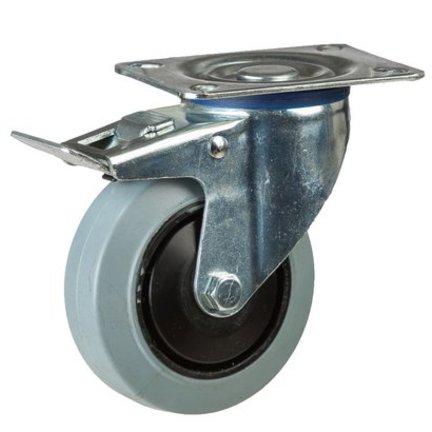 Grijs elastisch rubber wielen