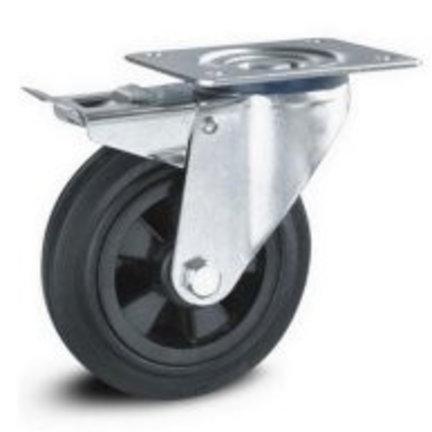 Zwart rubberen wielen