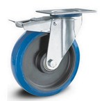 Blauw elastisch rubber wielen